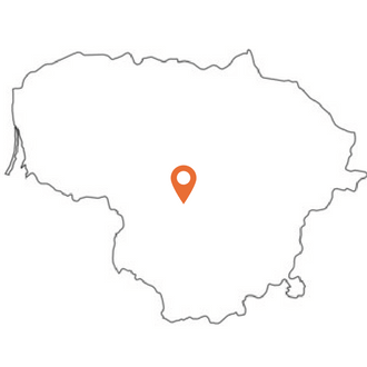 Outline map Lithuania