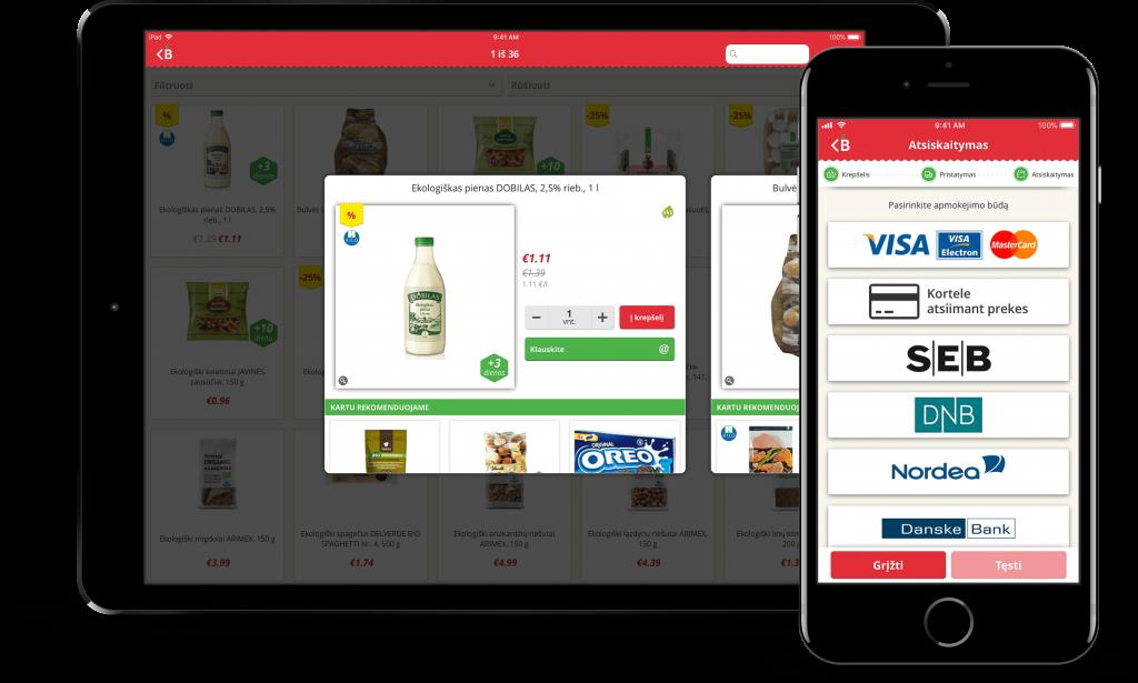 Barbora e-commerce mobile app