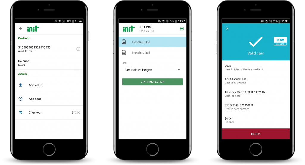INIT Honolulu Transportation mobile app