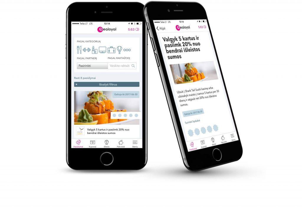 Dealoyal mobile app