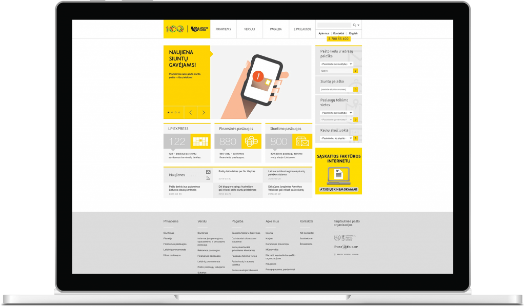Lithuania Post website