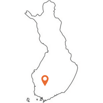 Outline map Finland