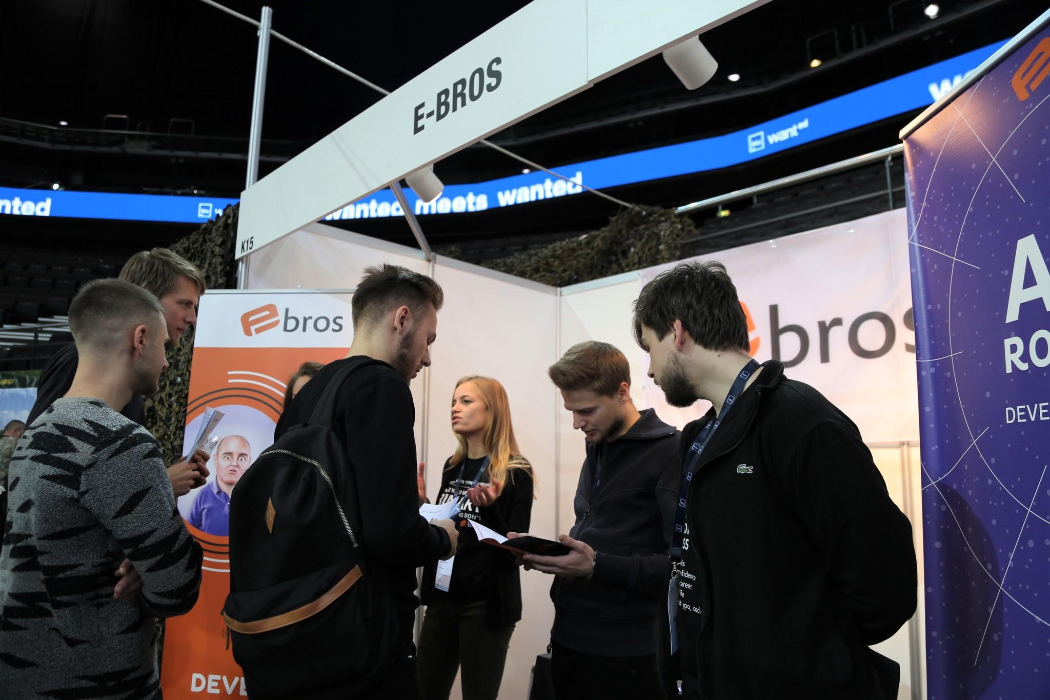 E-Bros team at KTU Career Event